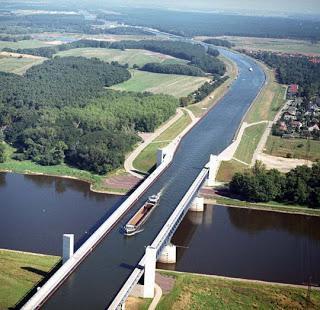 Water Bridge, Sungai di atas Jembatan
