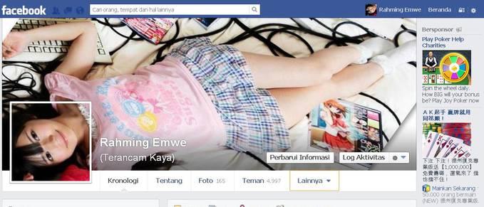 Kereng Tdk Profil Fb Aku ?? Mau Juga Kayak Gini ADD ME => https://www.facebook.com/rahming.emwe.9?ref=tn_tnmn