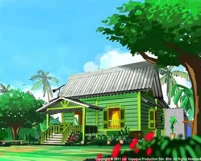 rumah siapakah ini??? a.doraemon b.spongebob c.upin ipin d.sinchan. jngan lupa woow nya ya