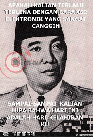 Well.. Selamat ulang tahun.. Proklamator kemerdekaan indonesia :D