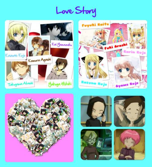 â?¥My Love Storyâ?¥ #1 Halo namaku Karin Kujo aku biasa disapa Karin. Sebelah fotoku ada foto sahabatku Nama panggilannya Fuki kalau aku sih biasa panggil dia Arashi karena dia berasal dari keluarga Arashi. Sebelah Arashi ada foto Fuyuki. Panggila