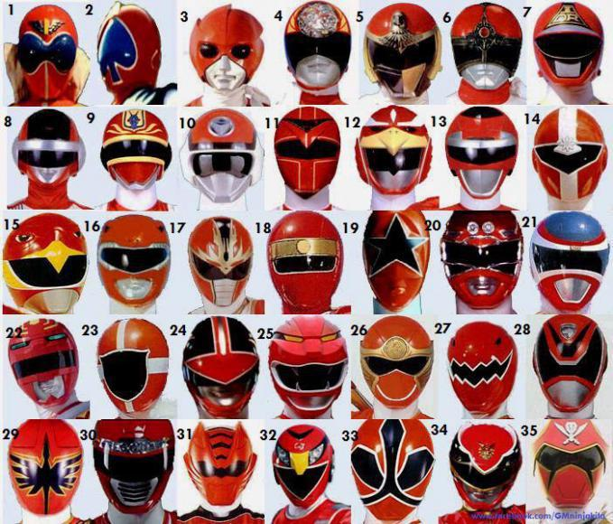 WOW power ranger merah!!!! ada yang bisa nyebutin semuanya??? :D