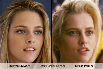 Kristen Stewart VS Teresa Palmer ayoo pilih siapa? FYI: Kristen dari film Twilight kalo Teresa dari film Warm Bodies. :3
