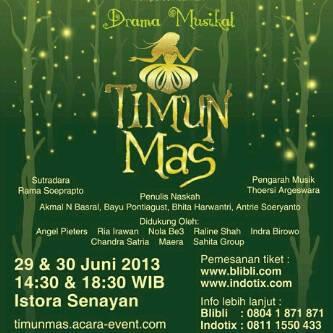 Saksikan Drama Musikal TImun Mas akhir Juni nanti yaaa :)