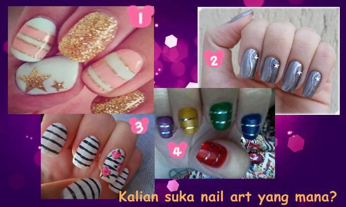 Kalian suka nail art yang mana nie??? Klik wow yaaa... ~Fashionista~