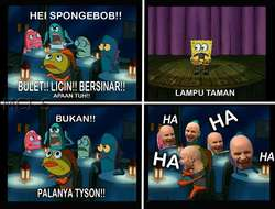 stand up comedy ala meme spongebob...........