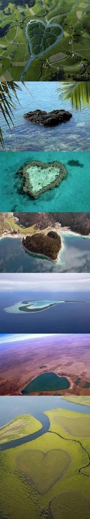 7 Kenampakan Alam Berbentuk Hati