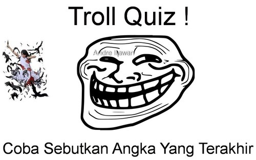 Troll quiz!! WOW nya bro, kalau wow, moga-moga dapet rejeki dahh