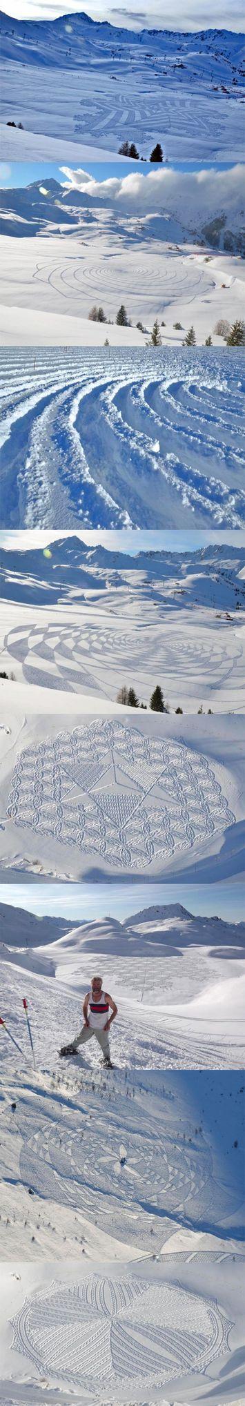 Kini crop circle tidak hanya ada di sawah atau ladang gandum. Tapi dengan adanya simon beck, ia berhasil menciptakan crop circle di salju, yang disebutnya seni salju (snow art). simon beck mampu menciptang snow art tersebut dlm 6 jam - 2 hari.