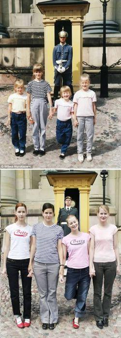 Foto-Foto Keren Keluarga Dengan Pose Yang Sama!