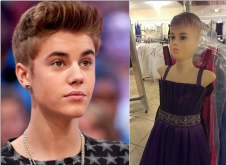 menurut kamu mirip ga Justin Bieber ini dengan manekin??