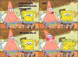 Obrolan Patrick ama Spongebob.