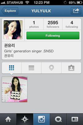 Ini adalah akun (REAL) Yuri snsd , sebelum nya @watasiwahyo = Hyoyeon SNSD @taeyeon_ss = Taeyeon SNSD ..., ini adalah nama 3 akun instagram snsd !