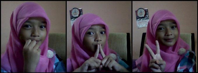 untuk perempuan muslim sebaiknya kalian memakai jilbab untuk menutup aurat dan manis