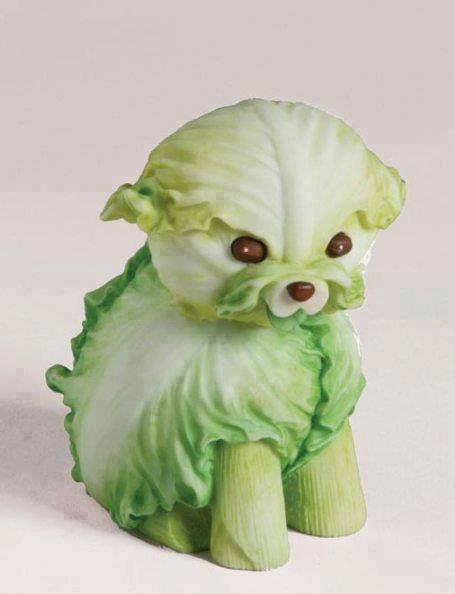 Tebak ini sayuran apa? kreatif banget yang buat sayuran menjadi bentuk anjing kecil lucu ini