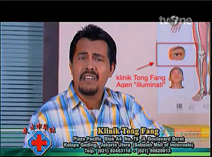 di iklan klinik tong fang ada lambang iluminati