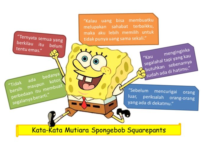 Belajar dari Sponge Bob kawann........