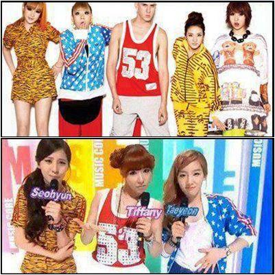Oh no, ternyata SNSD plagiat 2NE1 (liat aj bajunya) ya... walau pun bajunya yg jelas plagiat