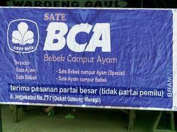 hahahahaha Kepanjangan dari BCA! liat gambar di atas !