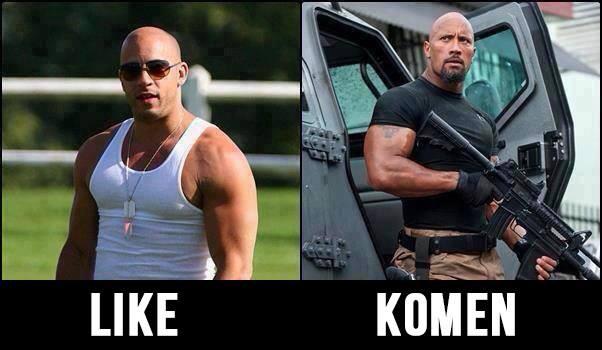 Jika mereka berdua bertarung dijalanan, siapa kira2 yg akan menang? Vin Diesel atau Dwayne Johnson (The Rock)? jangan lupa wownya...