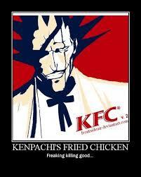 Kenpachi fried chicken (KFC) kini telah buka cabang padang dan sekitarnya. menyediakan menu: 1. ayam goreng bankai 2. burger aranchar 3. kentang goreng hollow melayani pesan antar silahkan hubungi : 08238145250 (anda kenyang kami pun senang)