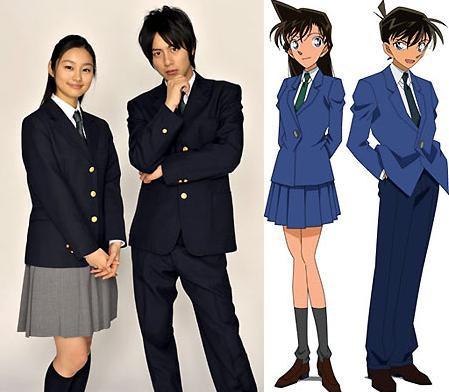 suka banget sama Detektif Conan, pasti tau banget dong yg diatas itu siapa, yup itu Kudo Shinichi dan Mouri Ran. Dan yg di sebelahnya itu bukan cosplay, yg pernah nonton DC live action pasti tau itu siapa, yup Mizobata Junpei dan Kutsuna Shiori