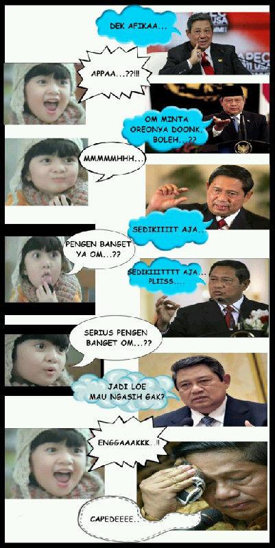 SBY yg rela mati mati demi Satu Oreo aja