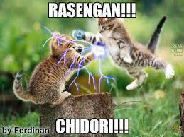 kucing lg bertengkar ala naruto dan sasuke