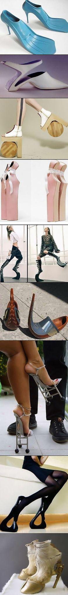 Wow sepatu high heels yg unik :)