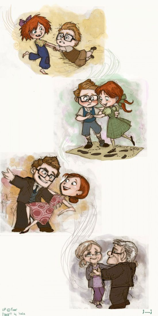 awesome love story in the movie up :)