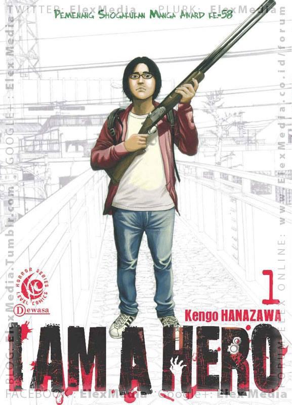 """Perkenalkan, Hideo Suzuki, asisten komikus & dia berjuang utk menjadi """"hero"""" dlm membuat serial komik terbarunya populer! LC: I AM A HERO vol. 01 http://ow.ly/mfBA7 Harga: Rp. 22,500"""