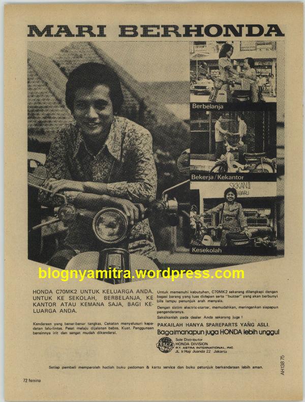 Iklan Honda Jadul..! Dari dulu hingga sekarang, pilihannya hanya HONDA.......Mari BERHONDA!!! Mana WOWnya gan..!