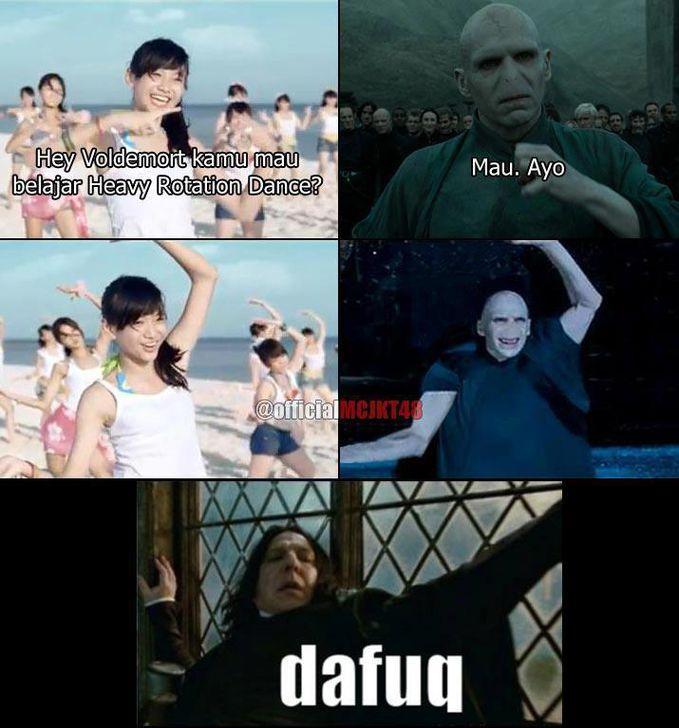 Voldemort lagi menari bareng JKT 48