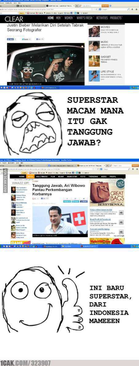 Bedanya artis indonesia sama JB