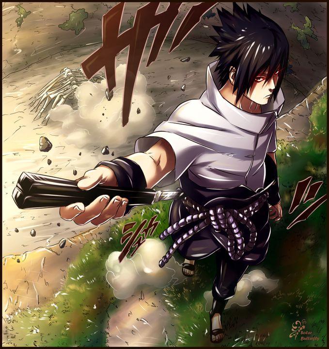 """Fansnya Sasuke, mana suaranya??!! pada pict ini, Sasuke baru saja membangkitkan """"Eternal Mangekyou Sharingan""""-nya...dan pada saat ini juga, dia telah membunuh Zetsu putih yang asli... #WOW"""
