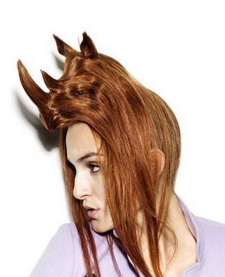 Gaya rambut yang aneh :D