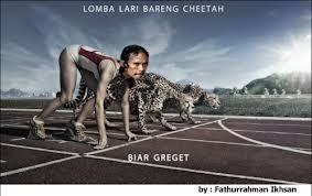 Lomba Lari Bareng Cheetah Biar Greget