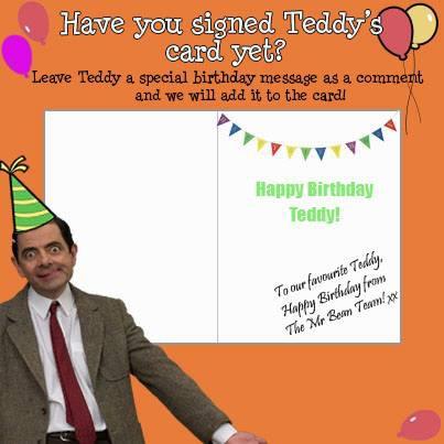Ternyata Teddy Bearnya Mr.Bean Ulang Tahun Happy birthday aja lah Semoga betah dengan Mr.Bean