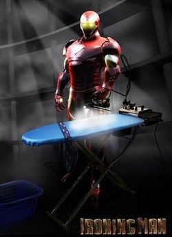 iron man sekarang pindah profesi menjadi ibu rumah tangga