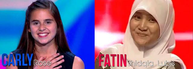 Fatin menyukai penyayi luar negeri, yang bernama Carly Rose Sonenclar. Carly merupakan Finalis X Factor USA. Fatin menilai bahwa suaranya keren banget. FATIN & CARLY ROSE