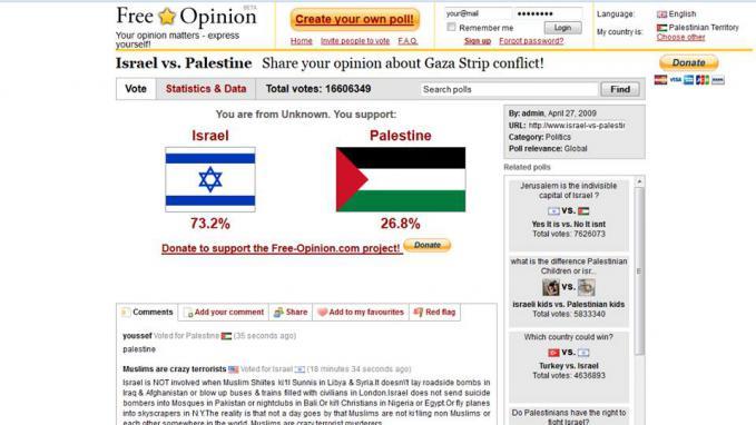 tolong bantu vote palestina sobat yang muslim :) disini --> http://www.israel-vs-palestine.com/AU/EN/ Jangan Lupa WOWnya ya