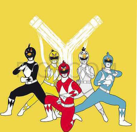 Power Ranger bergabung sama Angry Birds...