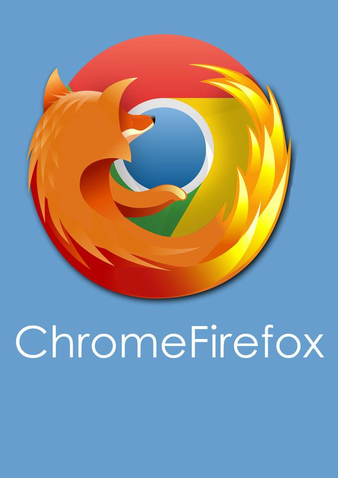 apa jadinya jika Google Chrome dan Mozilla Firefox bergabung? ya begini jadinya :D