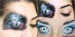 Kreasi Seru Beauty Blogger, Lukisan Kelopak Mata Ala Star Trek