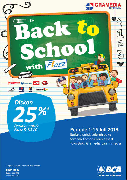 #EventBuku BACK TO SCHOOL with Flazz! http://ow.ly/mxkgu Info hubungi: Halo BCA 021 - 500 888