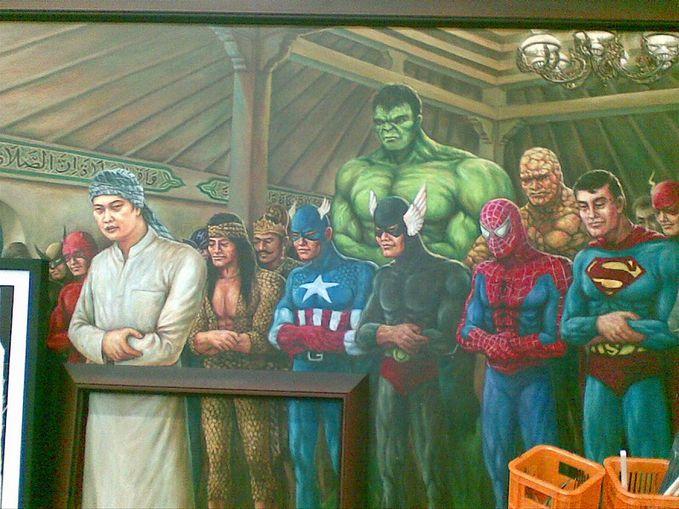 begini jadinya kalau para Super Hero jadi mualaf