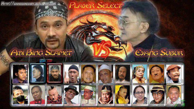 Mortal Kombat Versi Indonesia. Kalau kalian pilih siapa. Saya ADI BING SLAMET. Kalau Lawan nya Pok Nori Baqgaimana y?????