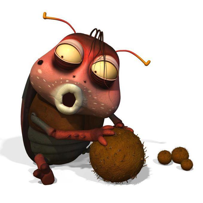 ada yang kenal dia? hayoo yang kenal WOW ya :D namanya second brown, ada di larva loh :D dia suka makan (maaf) tinja :D dia sangat sayang sama tinjanya.tingkah lakunya juga menggemaskan <3 second brown termasuk jenis kumbang. WOWnya ya