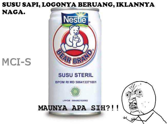 Susu Sapi,Logo nya Beruang,Iklan nya Naga. MAUNYA APA SIH?!!!!!!