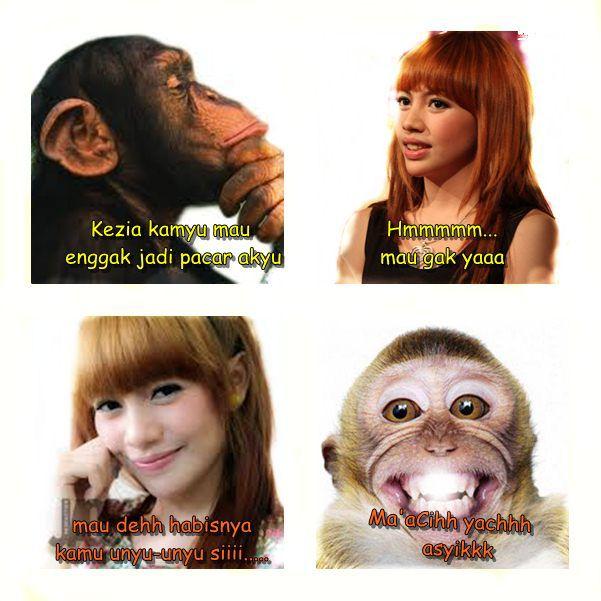 Kezia chibi ajahh suka sama monyet